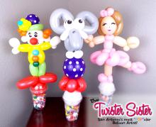 Circus Themed Balloon Candy Cups