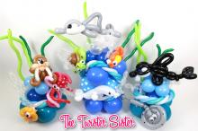 Sea World theme balloon centerpiece